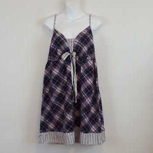 Cacique plus size Plaid Lingerie slip night gown